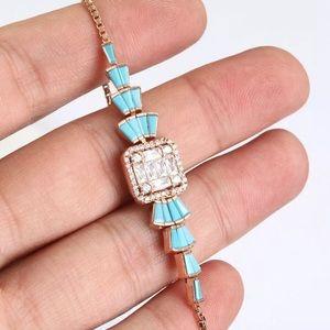 Rose Gold Topaz Bracelet 925